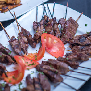 Pickle-Brined Beef Skewers Recipe