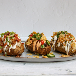 Fully Loaded Twice-Baked Potato Platter